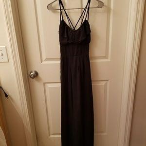 BEAUTIFUL Black Maxi Dress w. Strappy Back